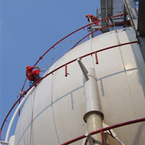 Inspection and maintenance of large sphere